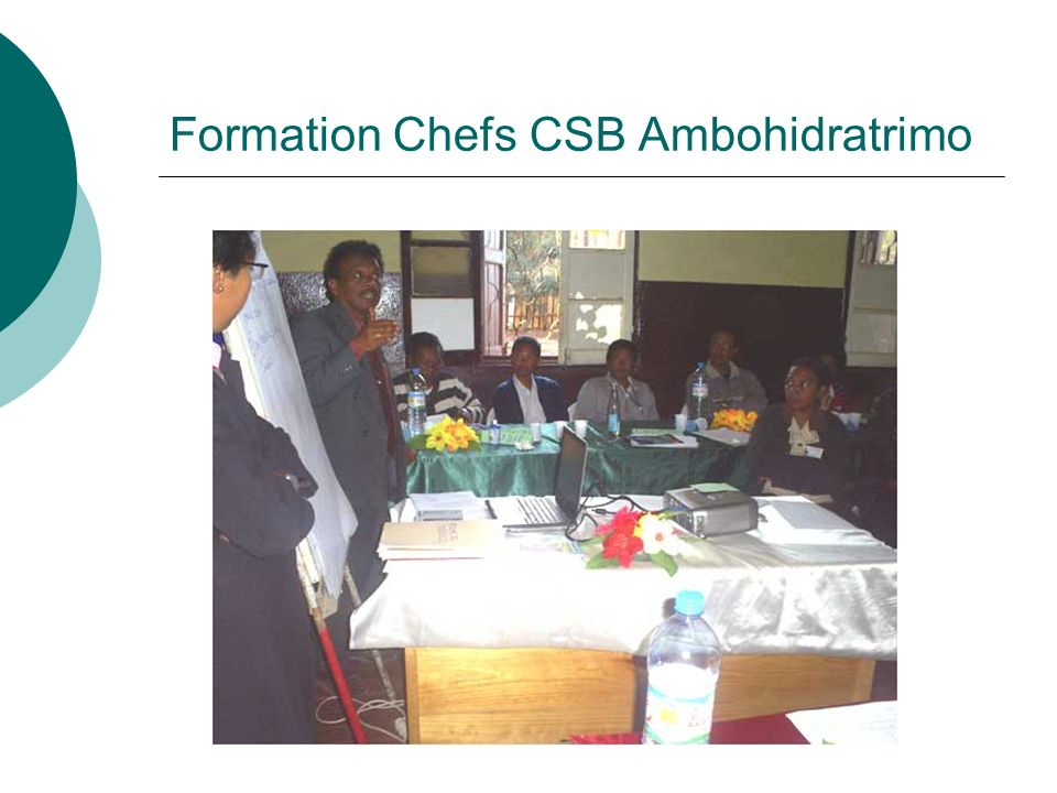Formation Chefs CSB Ambohidratrimo