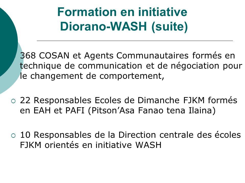 Formation en initiative Diorano-WASH (suite)