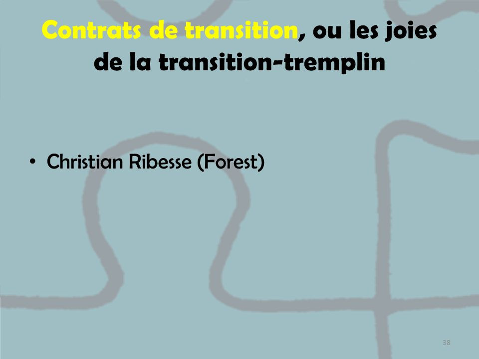 Contrats de transition, ou les joies de la transition-tremplin