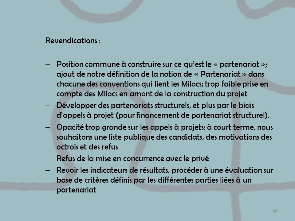 Revendications :
