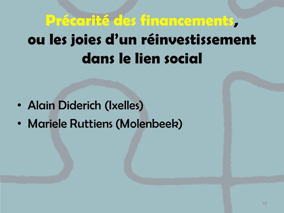 Précarité des financements, ou les joies d'un réinvestissement dans le lien social
