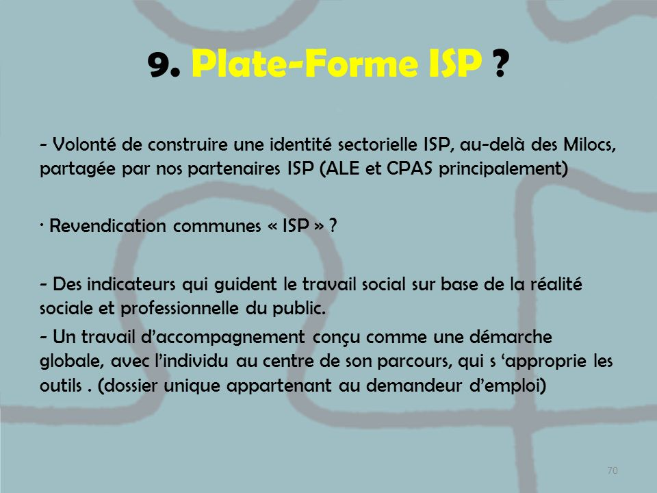 9. Plate-Forme ISP