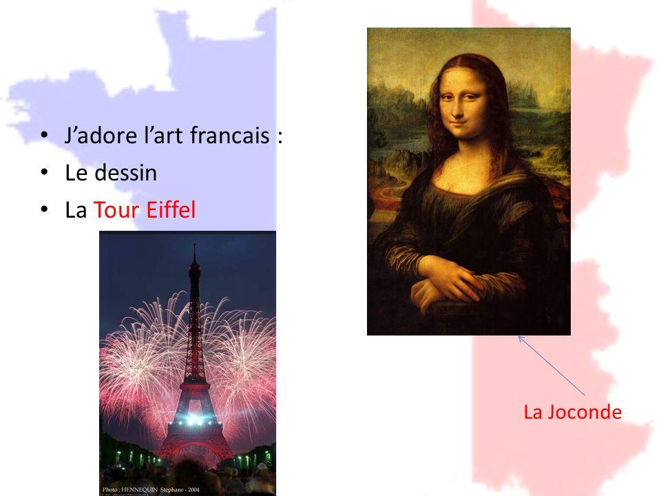 J'adore l'art francais : Le dessin La Tour Eiffel