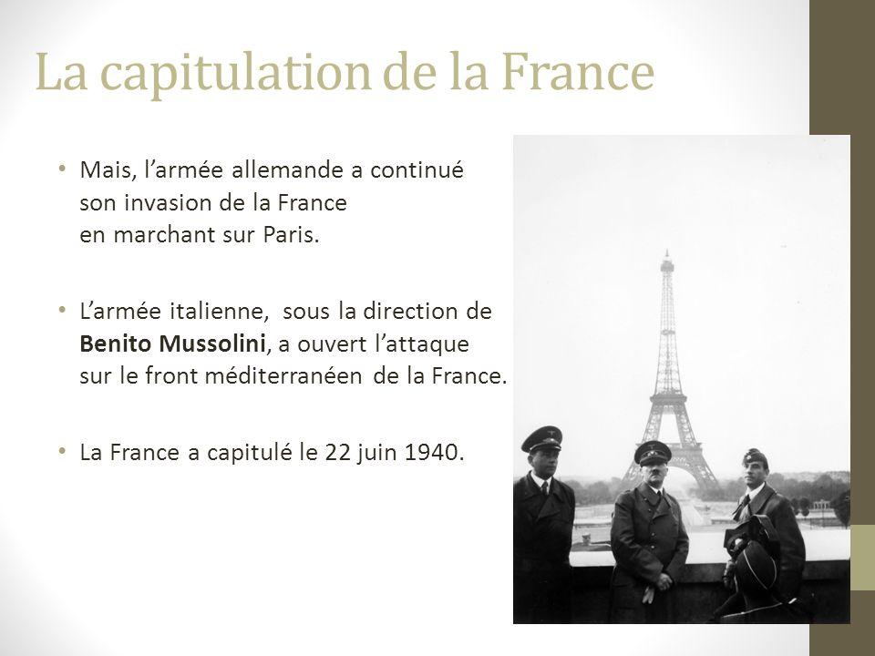 La capitulation de la France