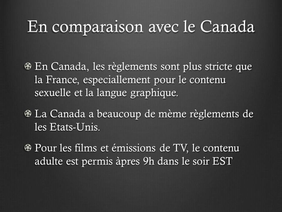 En comparaison avec le Canada