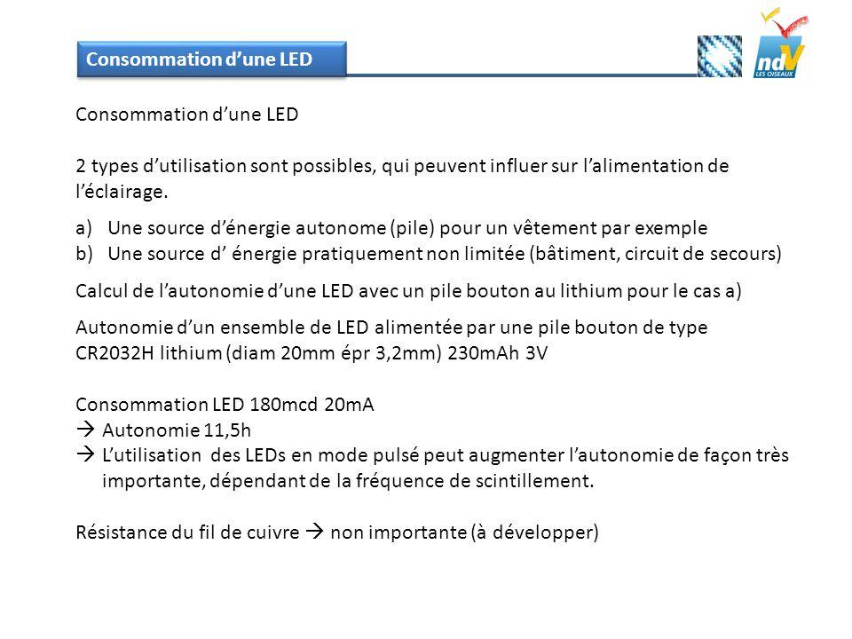 Consommation d'une LED