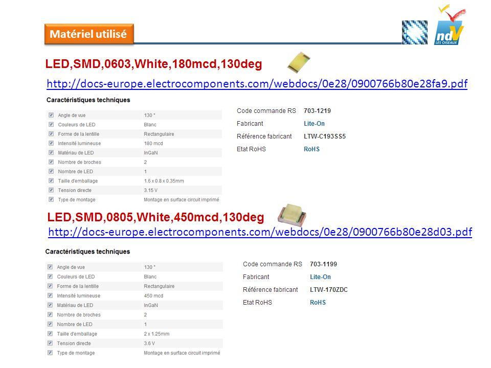 Matériel utilisé http://docs-europe.electrocomponents.com/webdocs/0e28/0900766b80e28fa9.pdf.