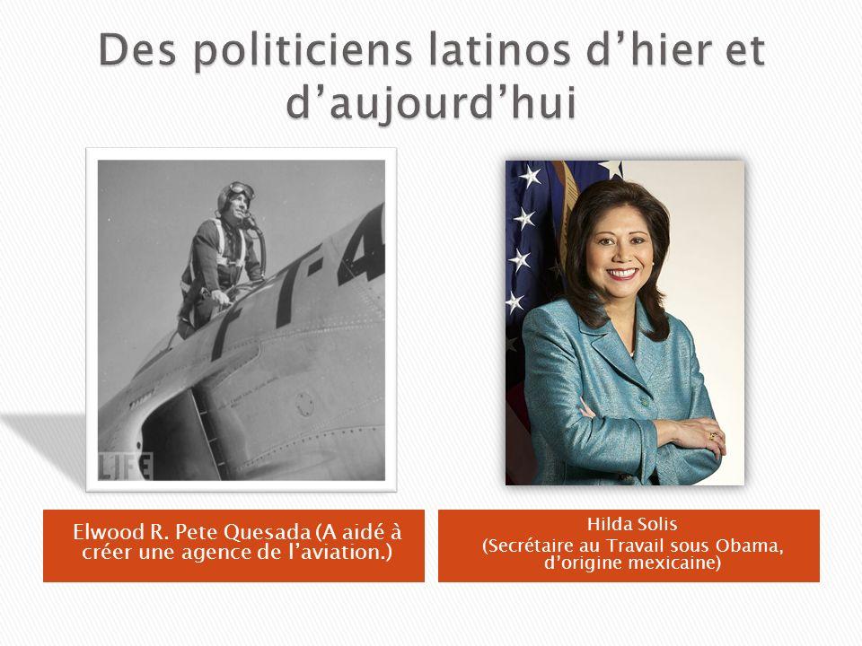 Des politiciens latinos d'hier et d'aujourd'hui