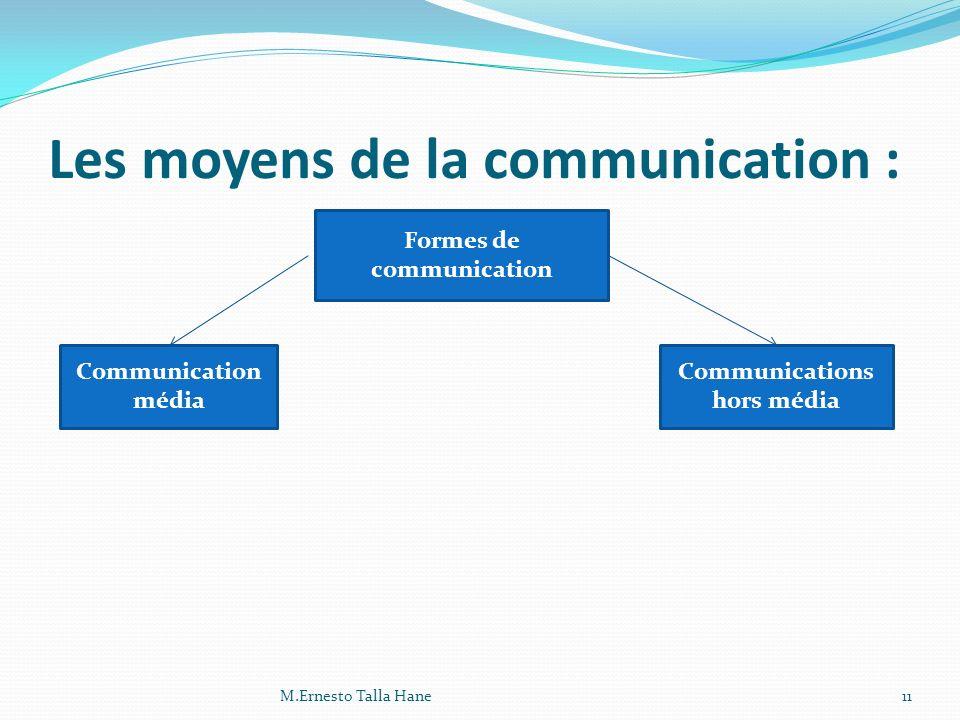 Les moyens de la communication :