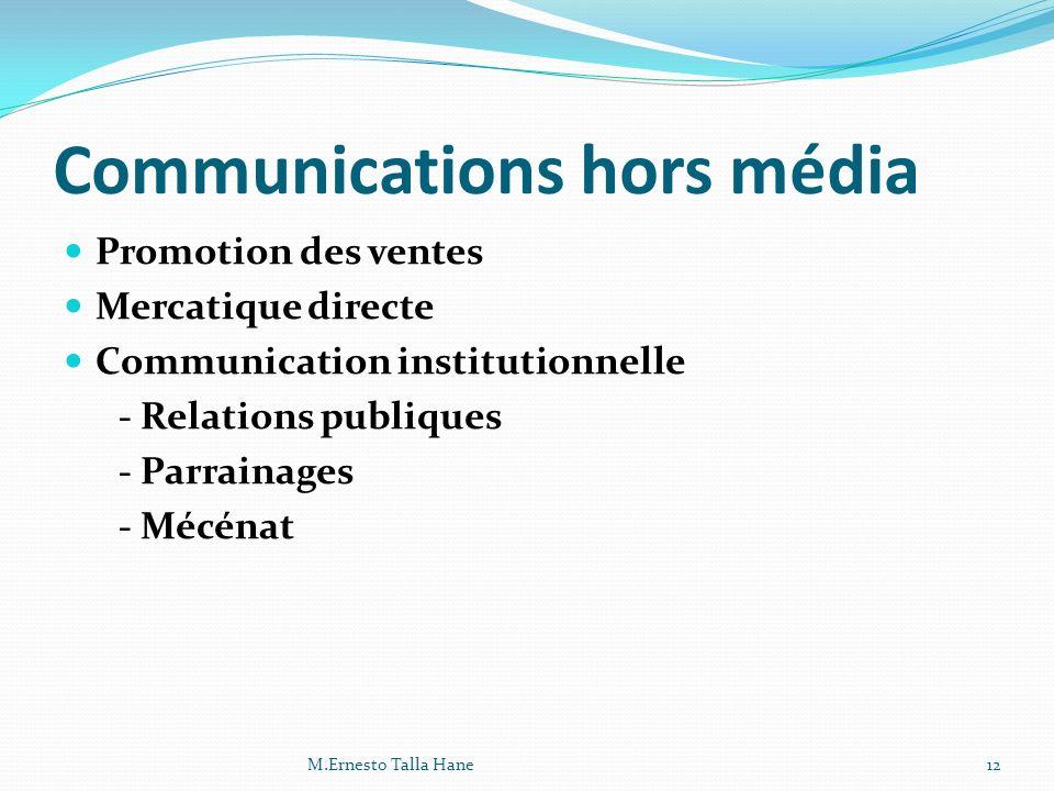 Communications hors média