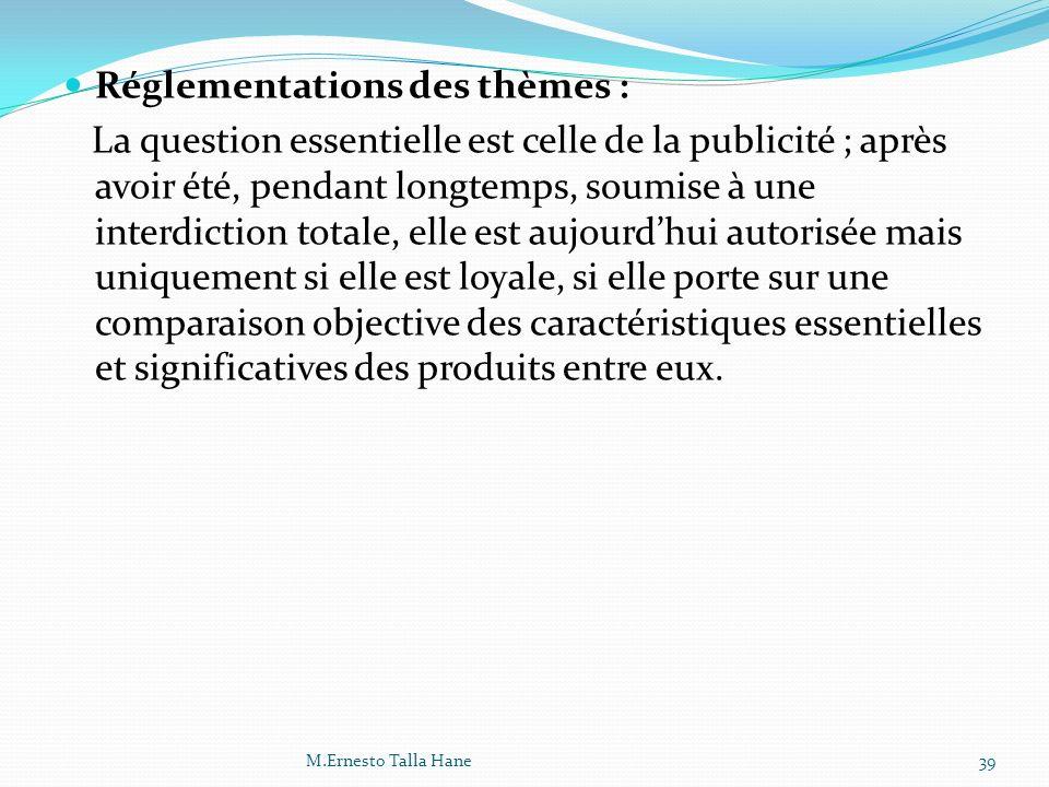 Réglementations des thèmes :
