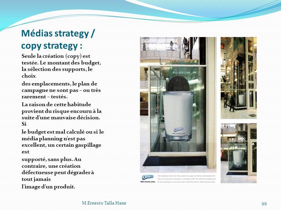 Médias strategy / copy strategy :