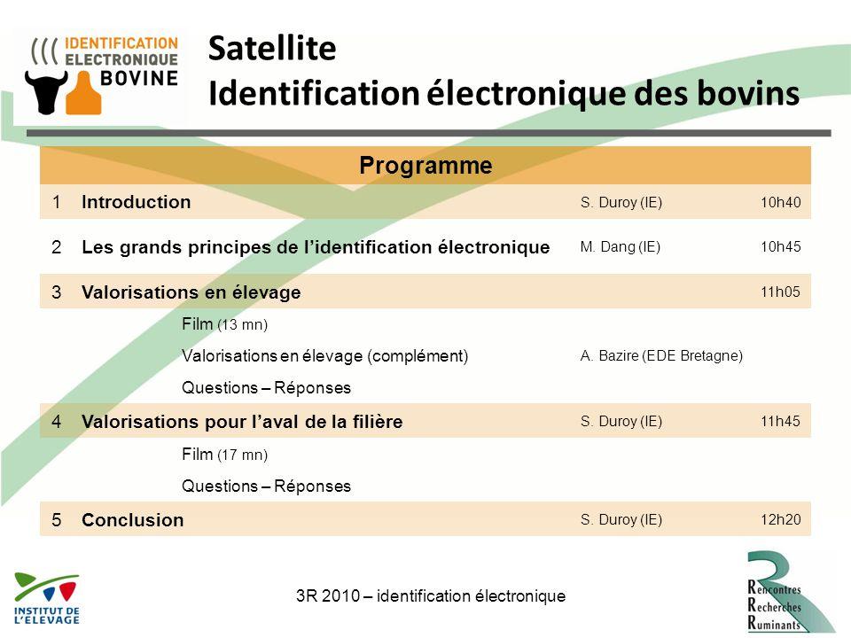 3R 2010 – identification électronique