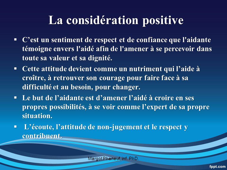 La considération positive