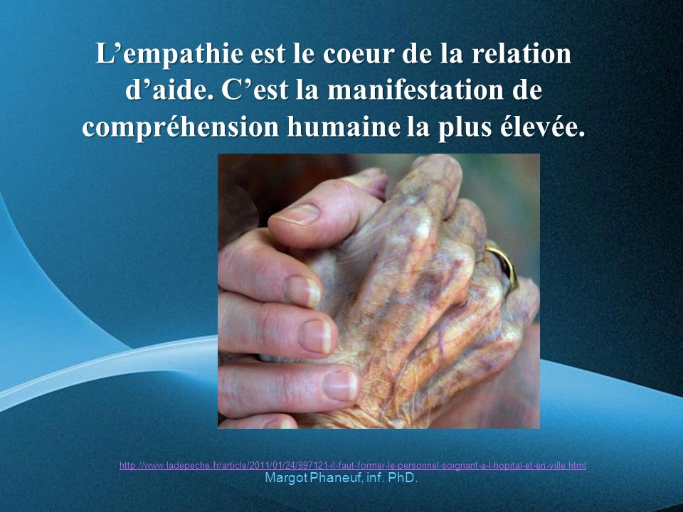 L'empathie est le coeur de la relation d'aide
