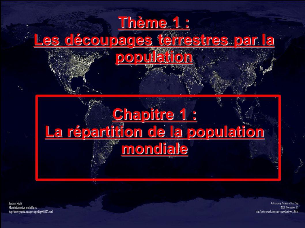 Les découpages terrestres par la population