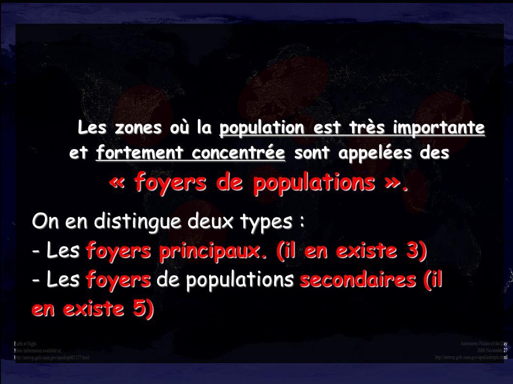 « foyers de populations ».