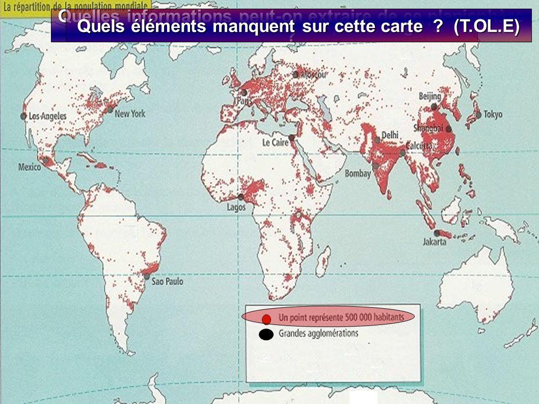 Livre p. 188-189 Quelles informations peut-on extraire de ce planisphère Quels éléments manquent sur cette carte (T.OL.E)