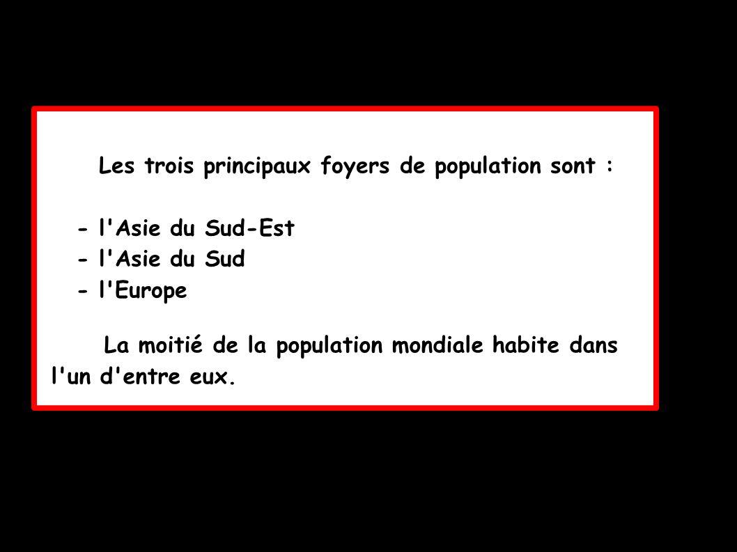 Les trois principaux foyers de population sont :