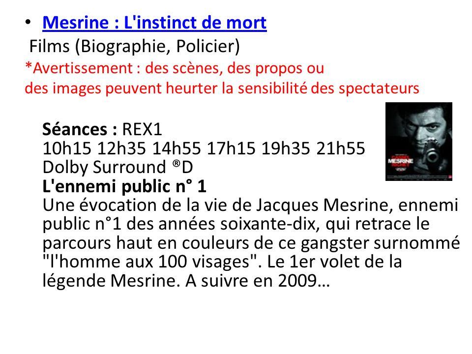 Mesrine : L instinct de mort Films (Biographie, Policier)