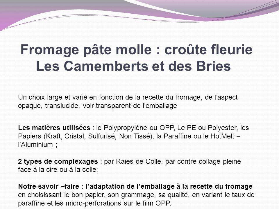 Fromage pâte molle : croûte fleurie Les Camemberts et des Bries