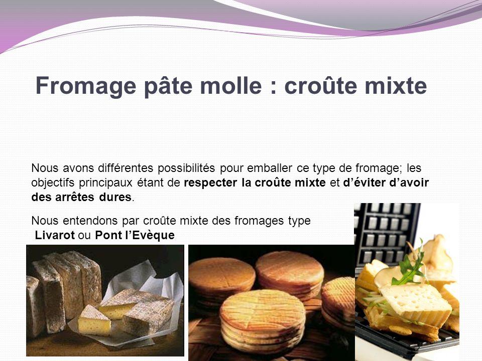 Fromage pâte molle : croûte mixte