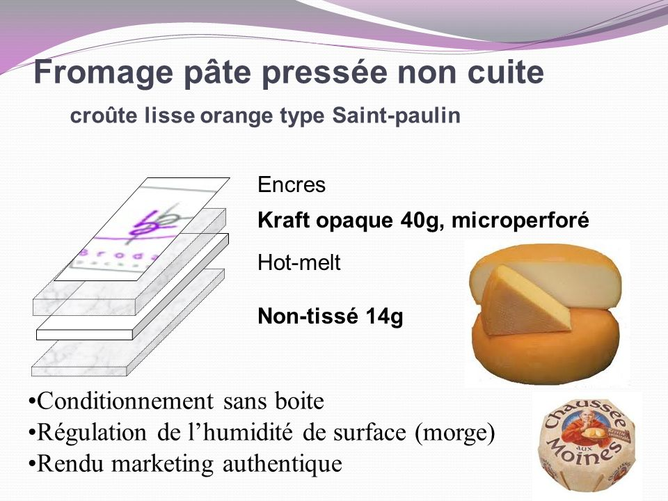 Fromage pâte pressée non cuite croûte lisse orange type Saint-paulin