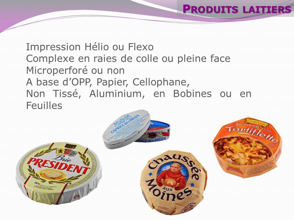 Produits laitiers Impression Hélio ou Flexo