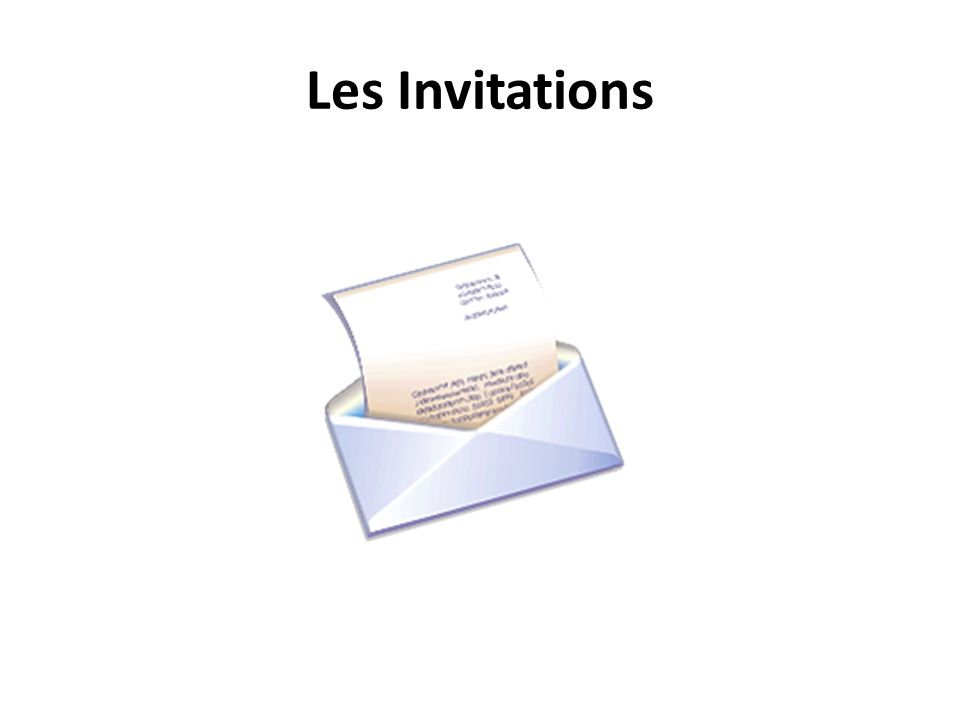 Les Invitations