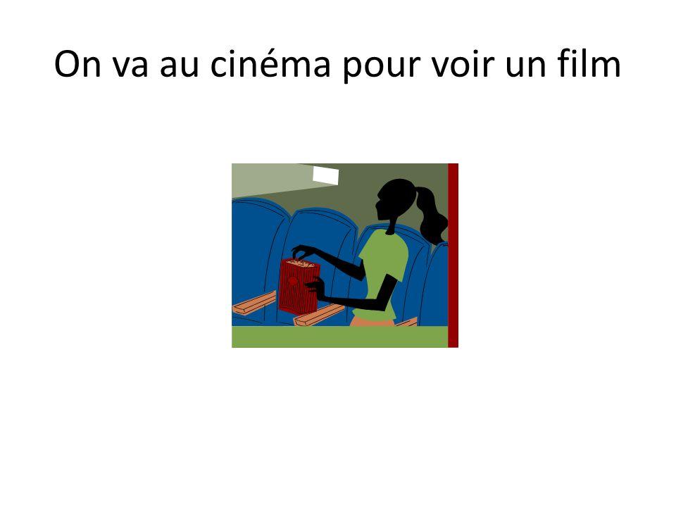 On va au cinéma pour voir un film