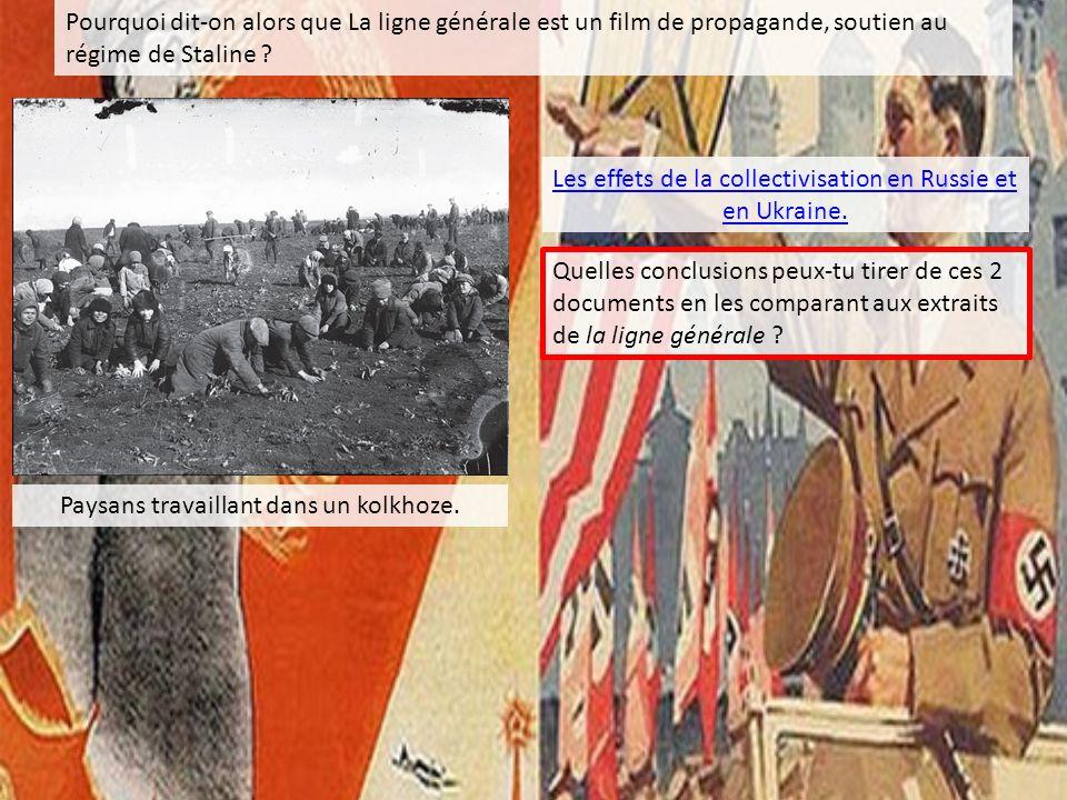 Les effets de la collectivisation en Russie et en Ukraine.