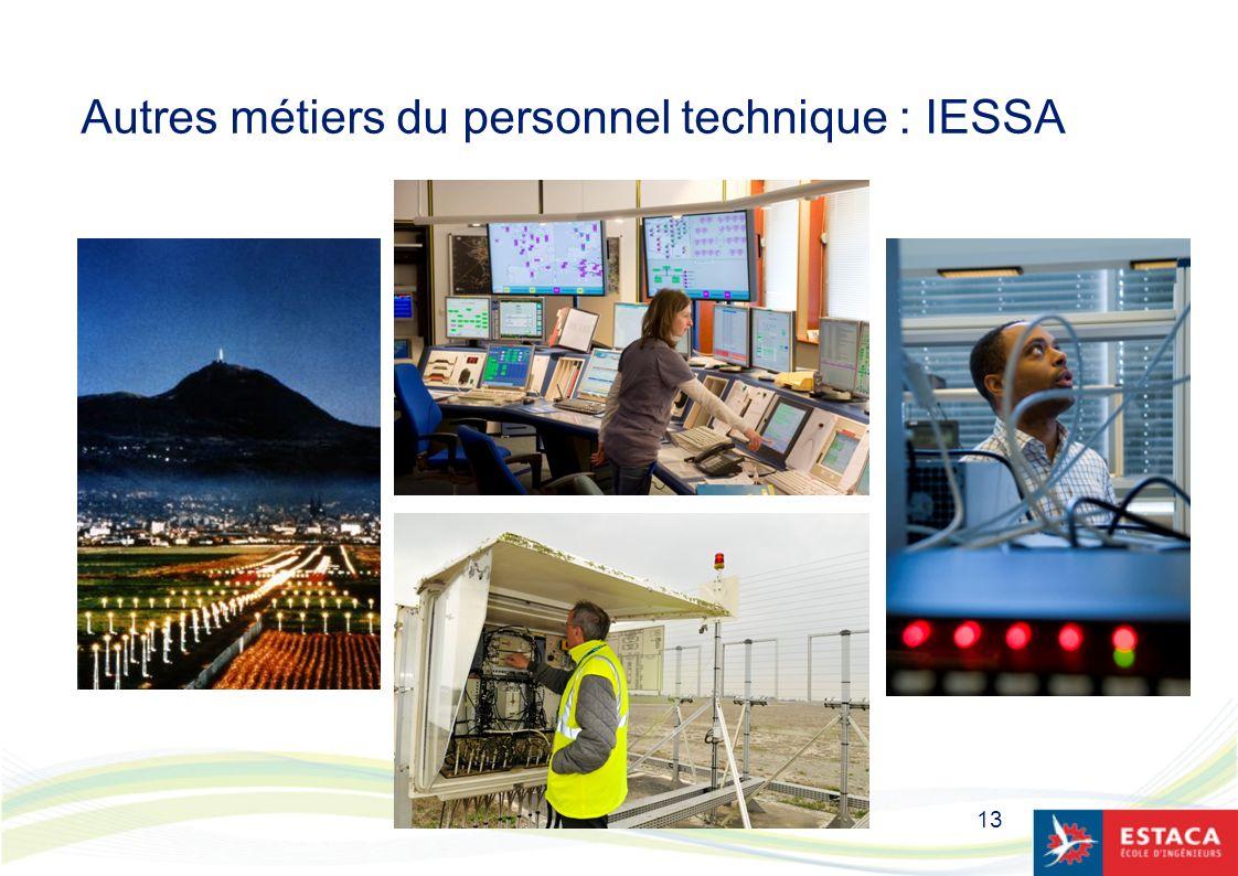 Autres métiers du personnel technique : IESSA