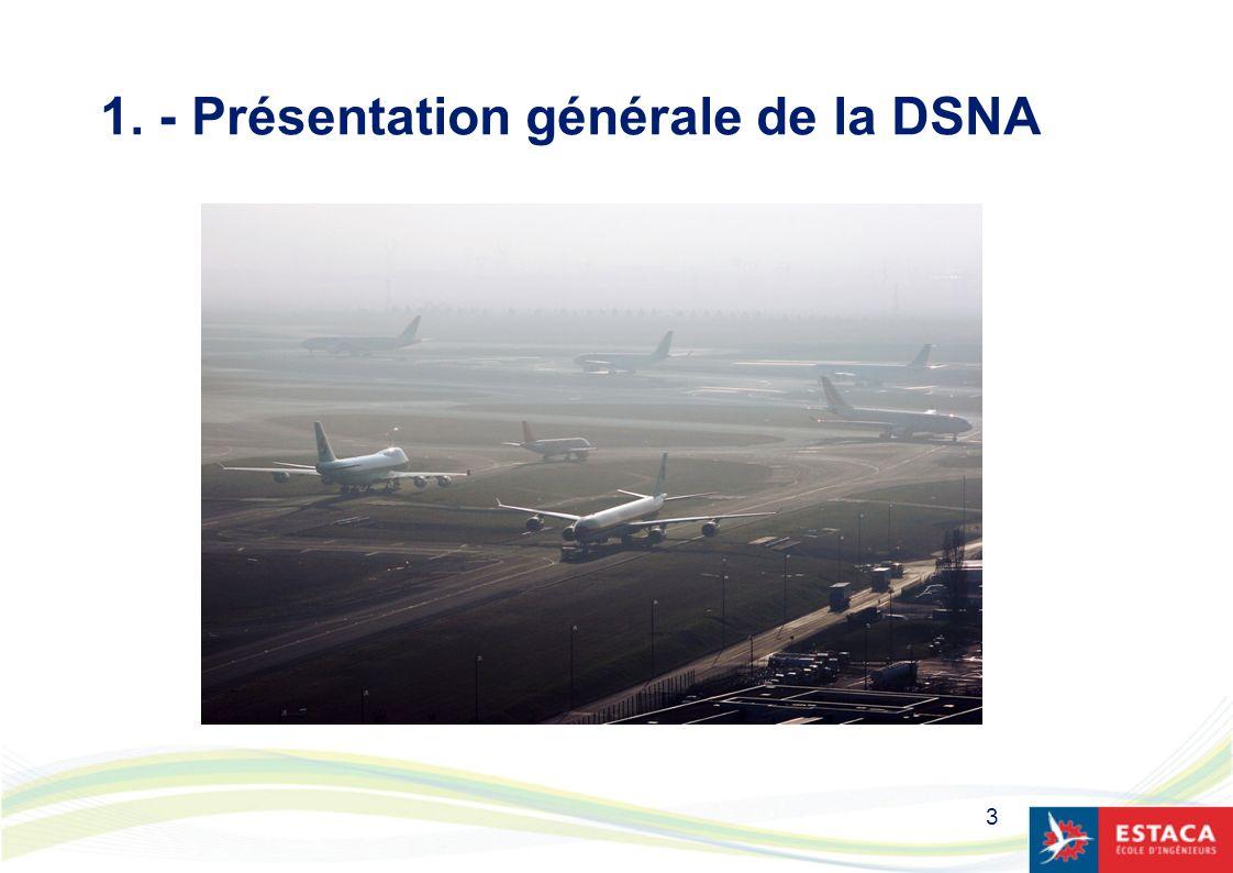 1. - Présentation générale de la DSNA