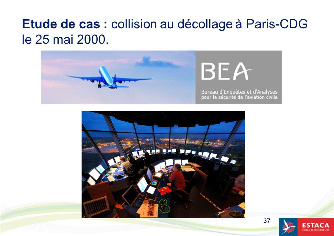 Etude de cas : collision au décollage à Paris-CDG le 25 mai 2000.