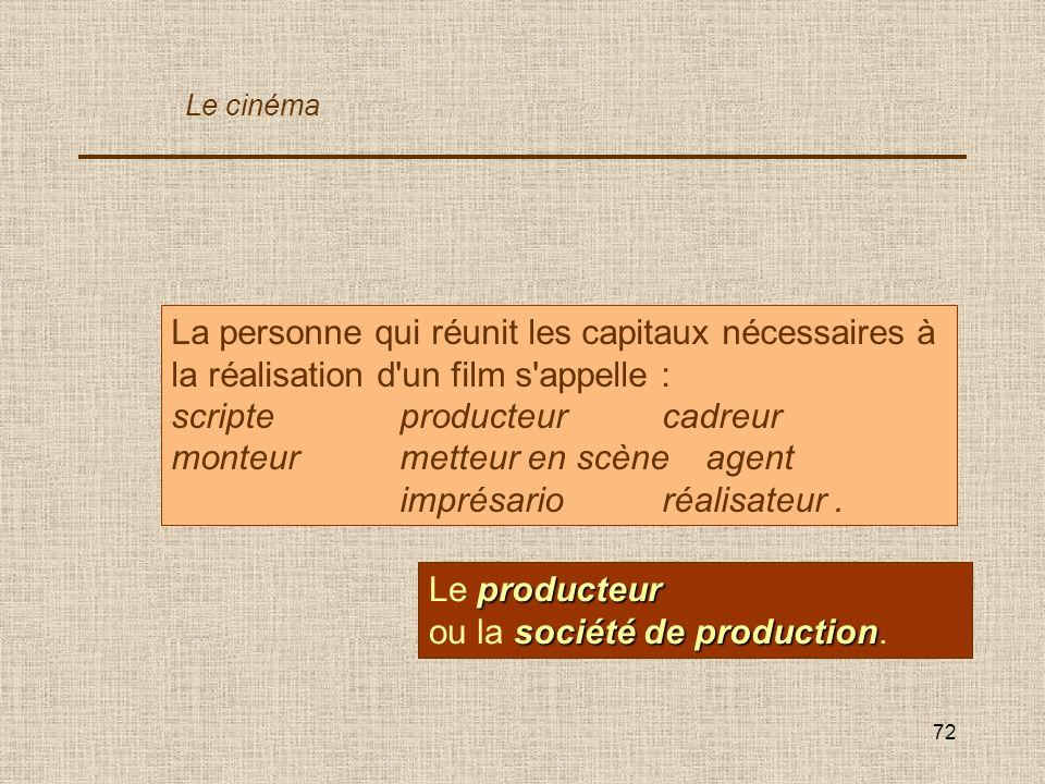 scripte producteur cadreur