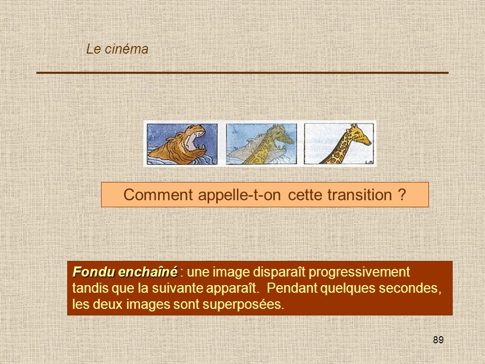 Comment appelle-t-on cette transition