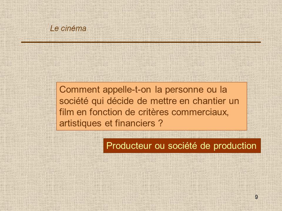 Producteur ou société de production