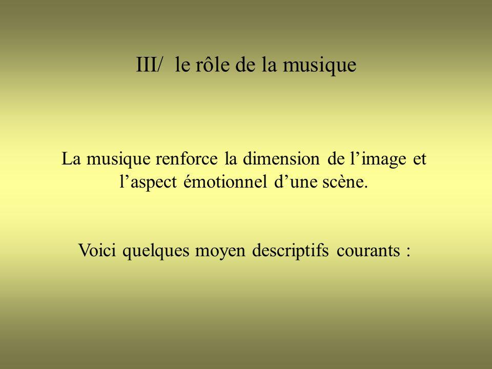 III/ le rôle de la musique