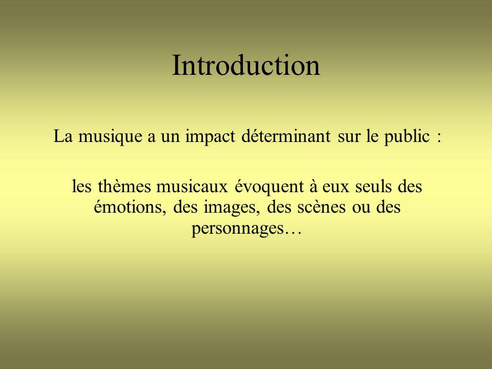 La musique a un impact déterminant sur le public :