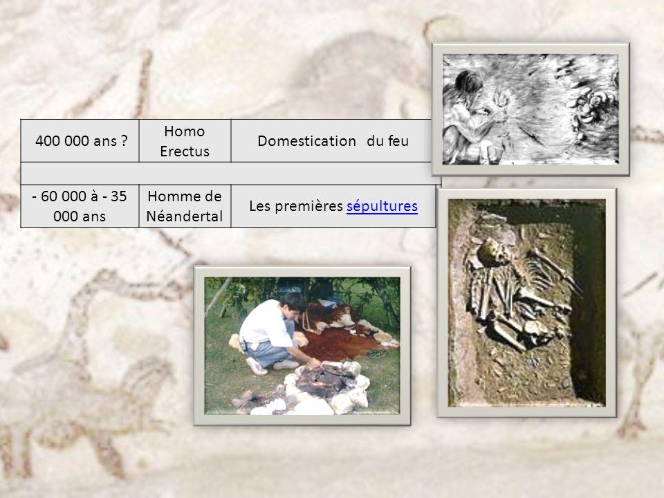 Les premières sépultures