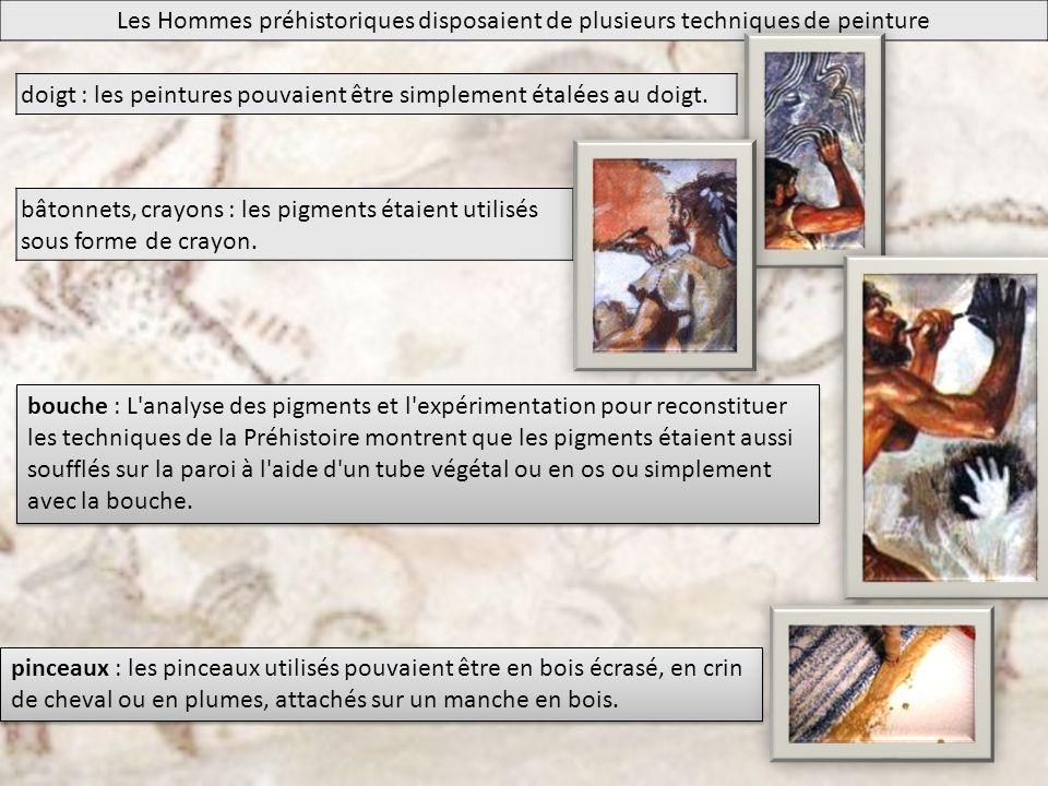 Les Hommes préhistoriques disposaient de plusieurs techniques de peinture