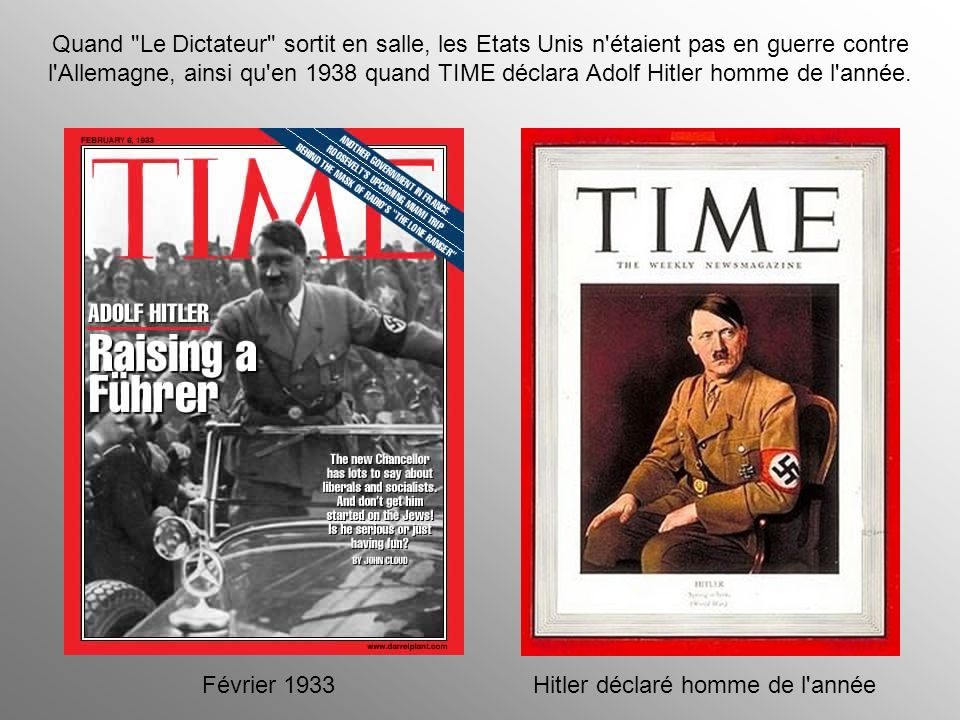 Hitler déclaré homme de l année