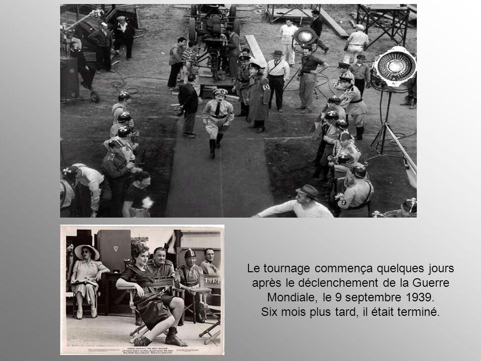 Le tournage commença quelques jours après le déclenchement de la Guerre Mondiale, le 9 septembre 1939.