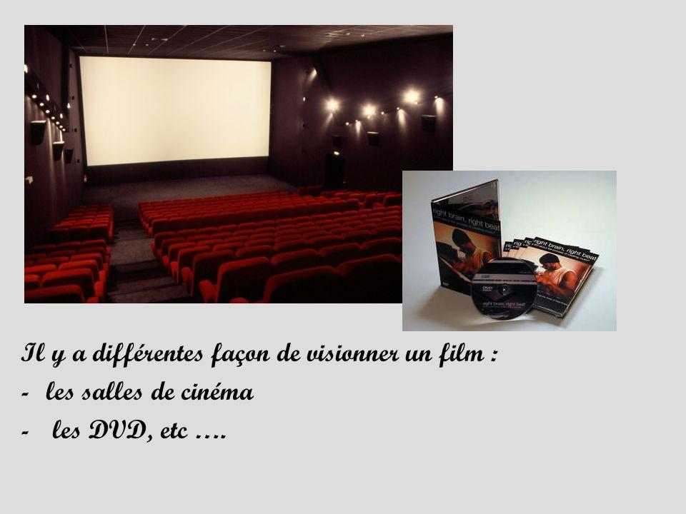 Il y a différentes façon de visionner un film :