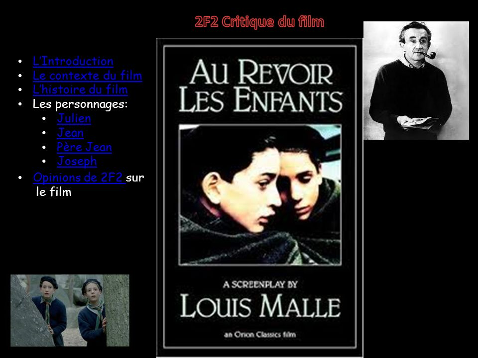 2F2 Critique du film L'Introduction Le contexte du film