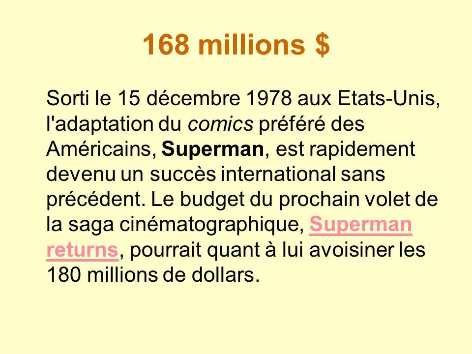 168 millions $