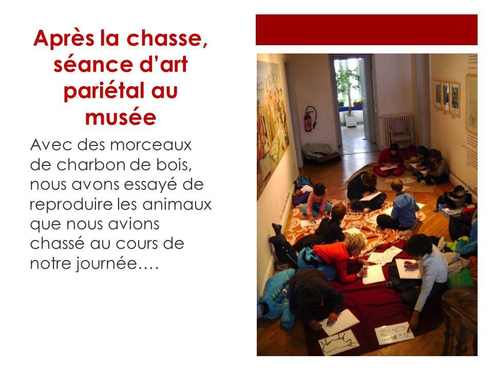 Après la chasse, séance d'art pariétal au musée