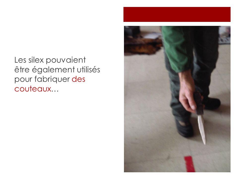 Les silex pouvaient être également utilisés pour fabriquer des couteaux…