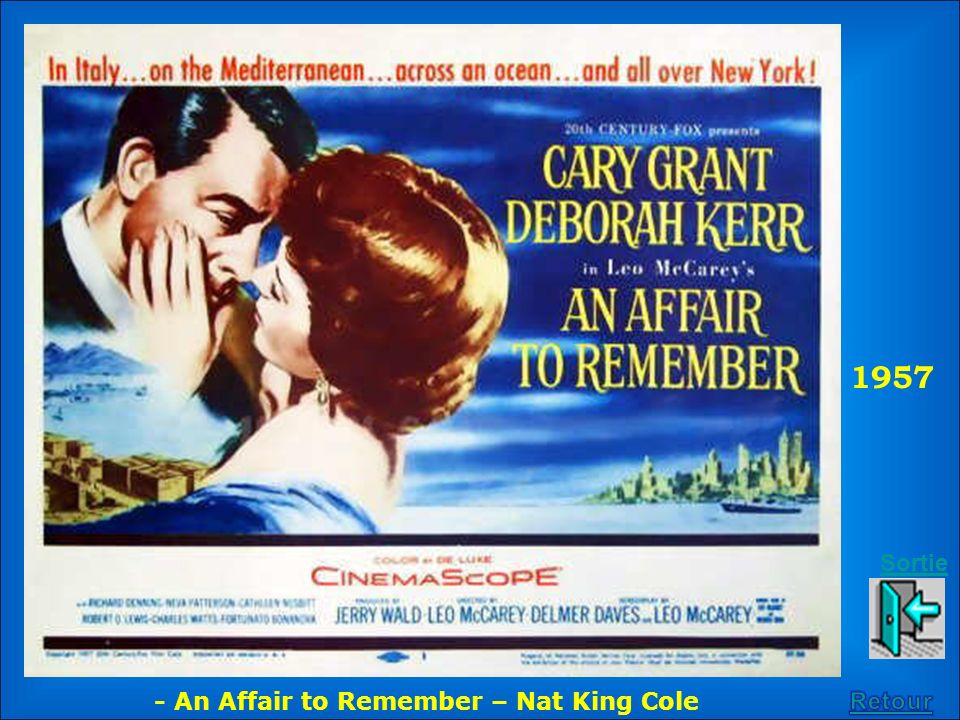 1957 Sortie - An Affair to Remember – Nat King Cole Retour