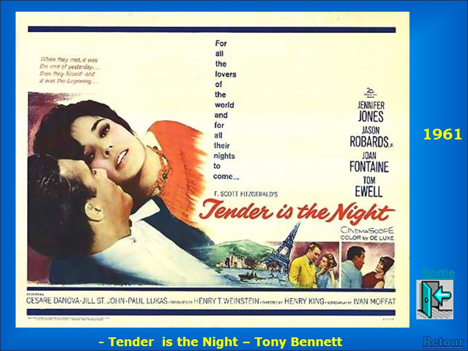1961 Sortie - Tender is the Night – Tony Bennett Retour